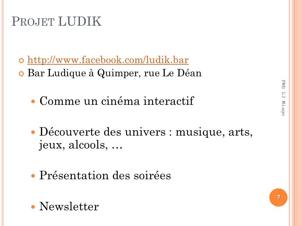 Projet LUDIK Comme un cinéma interactif