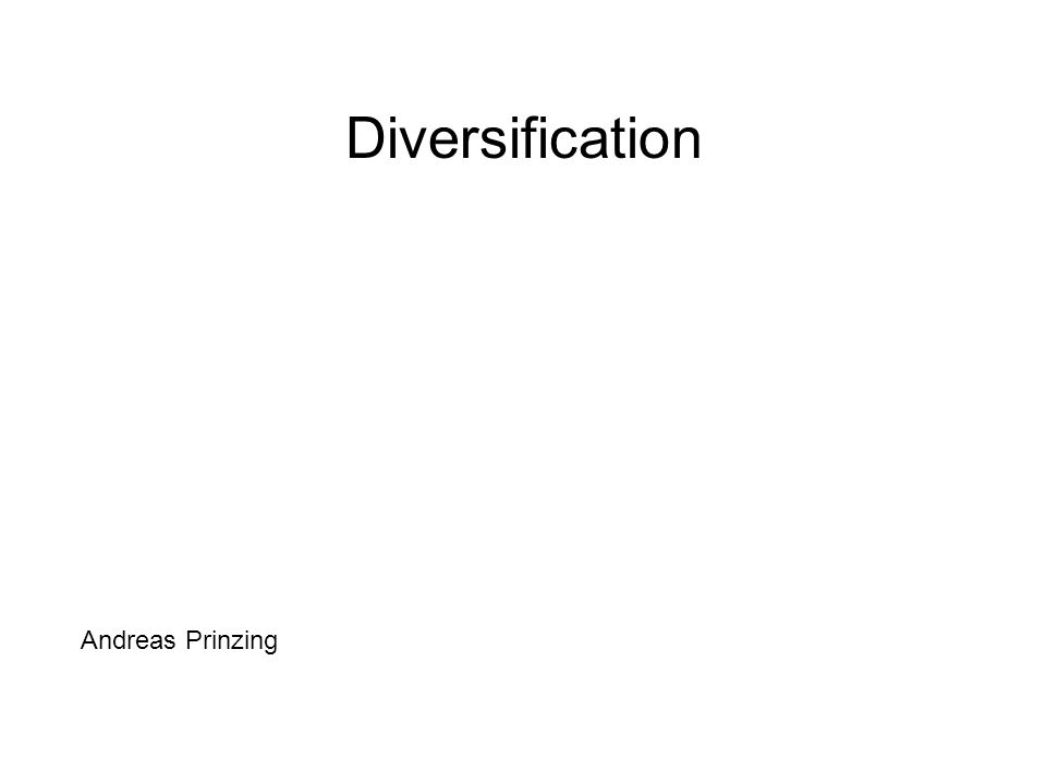 Diversification Andreas Prinzing