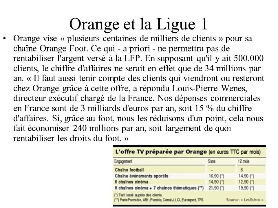 Orange et la Ligue 1