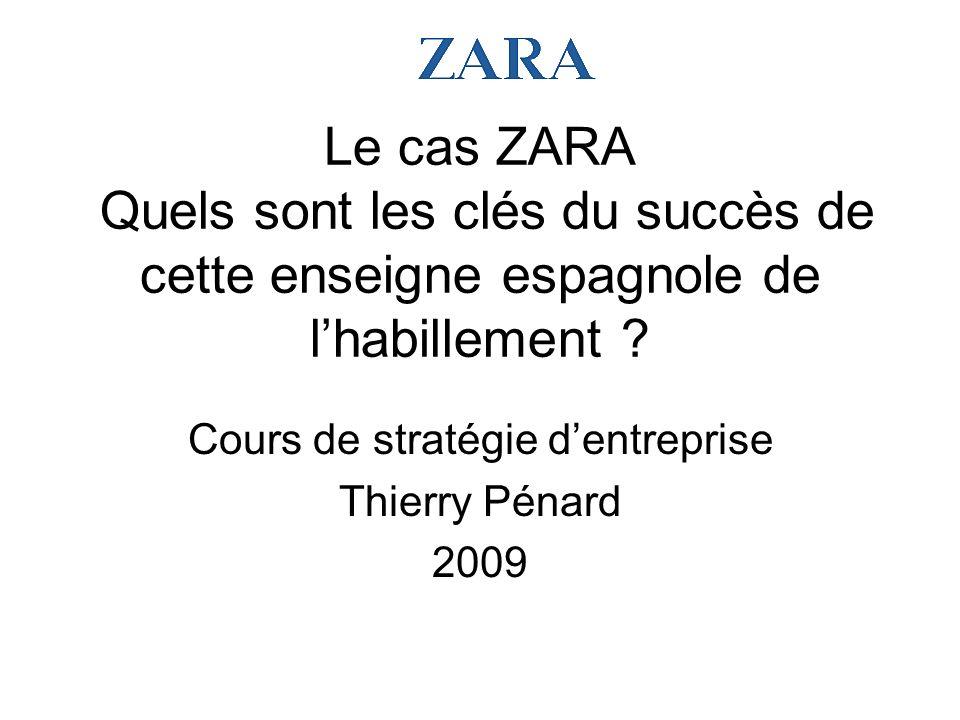 Cours de stratégie d'entreprise Thierry Pénard 2009