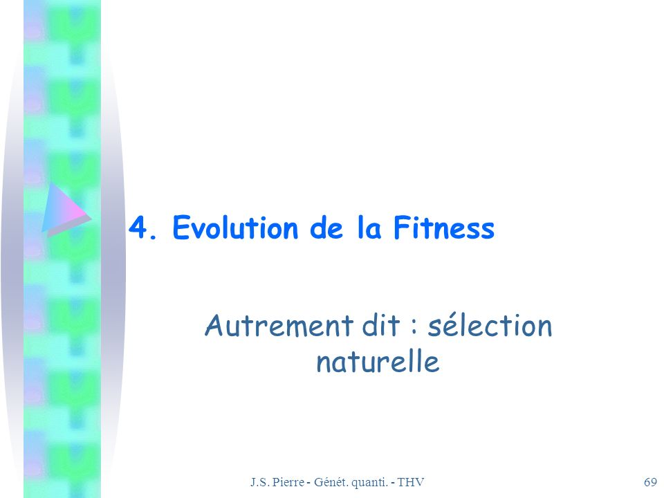 4. Evolution de la Fitness
