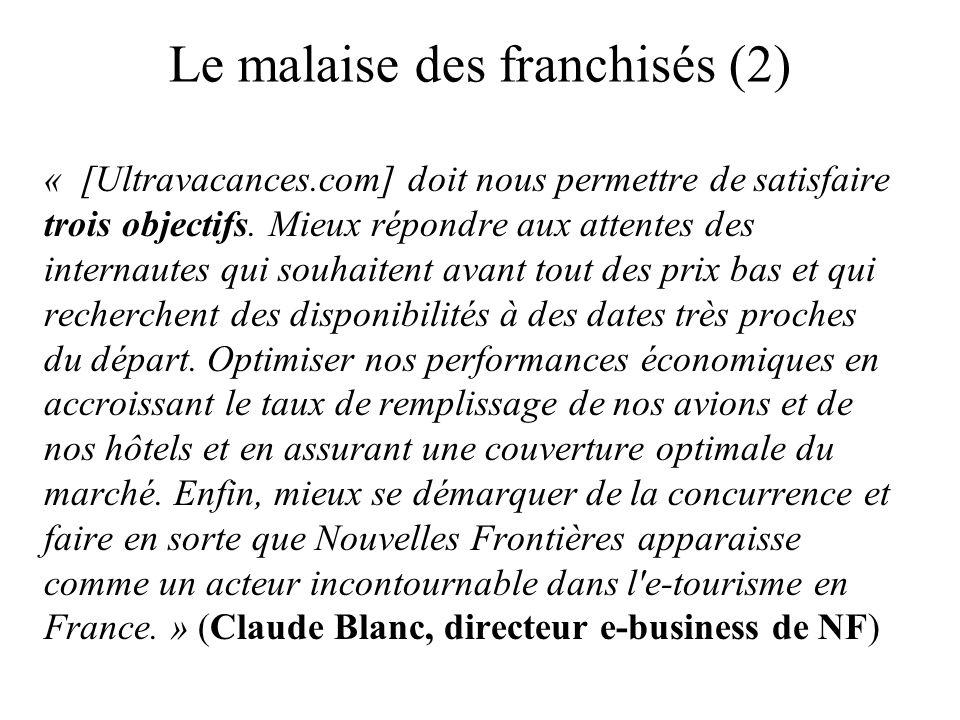 Le malaise des franchisés (2)