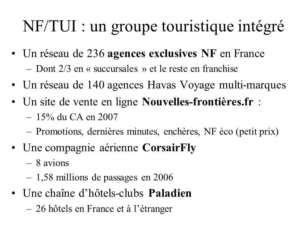 NF/TUI : un groupe touristique intégré