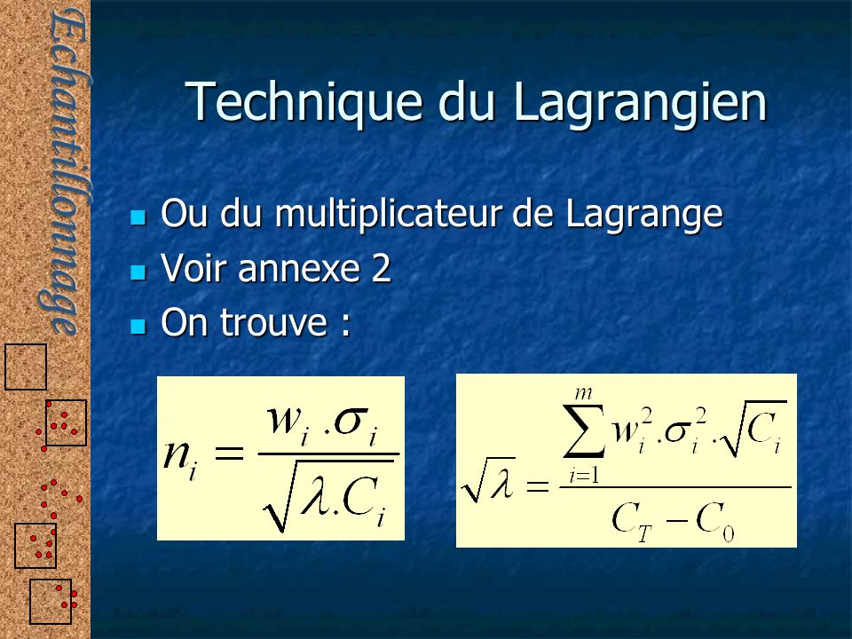 Technique du Lagrangien