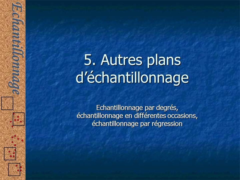 5. Autres plans d'échantillonnage