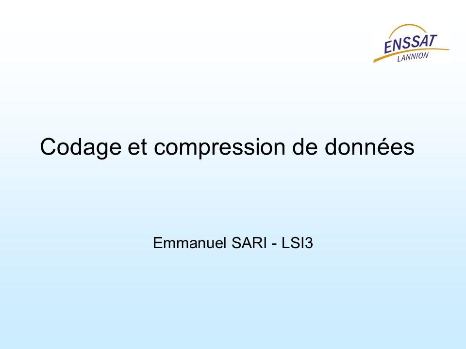 Codage et compression de données