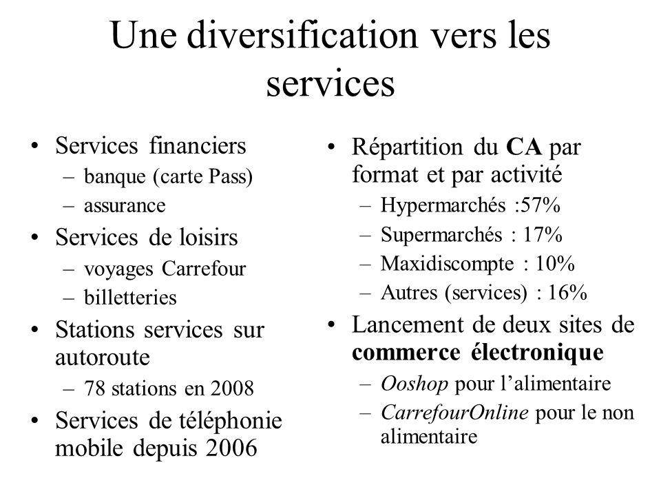 Une diversification vers les services