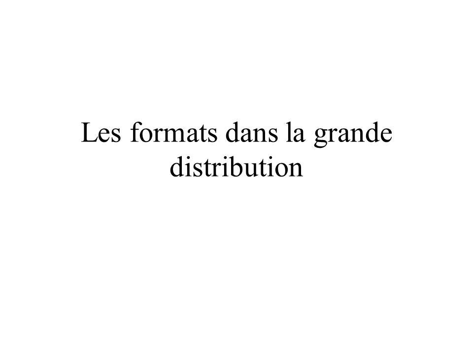 Les formats dans la grande distribution