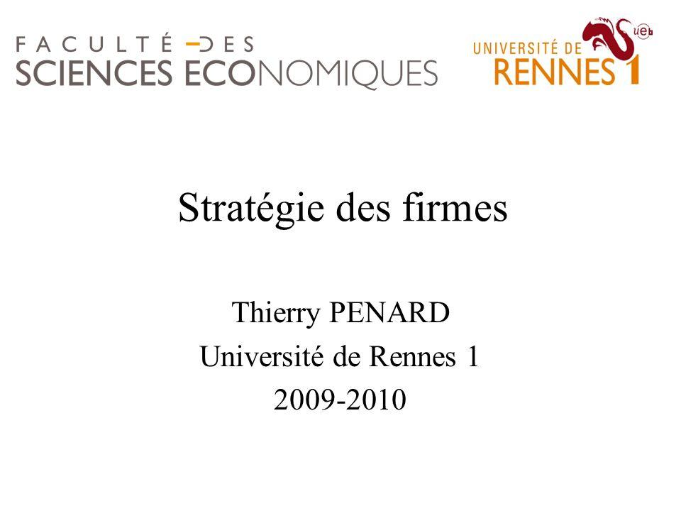 Thierry PENARD Université de Rennes 1 2009-2010