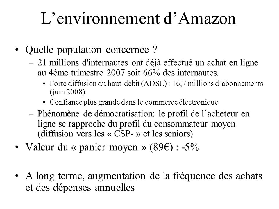 L'environnement d'Amazon