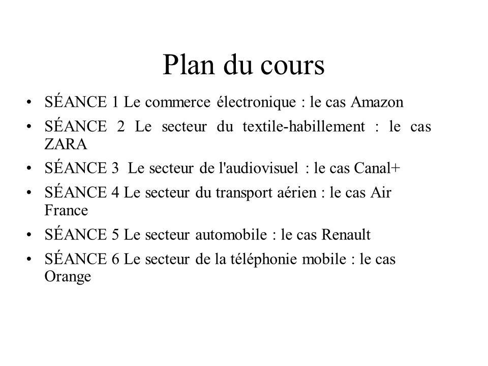 Plan du cours SÉANCE 1 Le commerce électronique : le cas Amazon