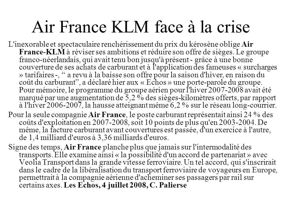 Air France KLM face à la crise