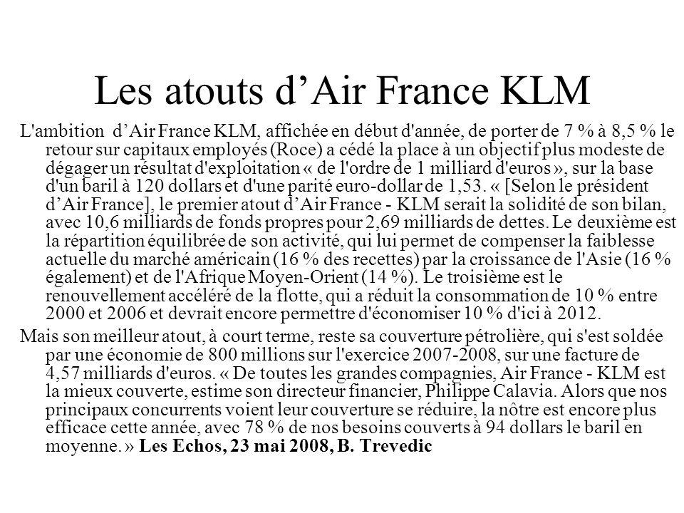Les atouts d'Air France KLM