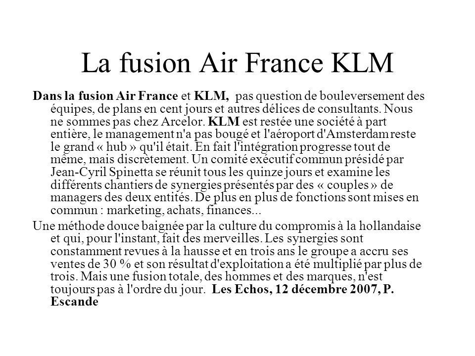 La fusion Air France KLM