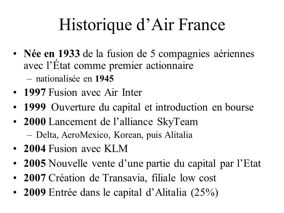Historique d'Air France