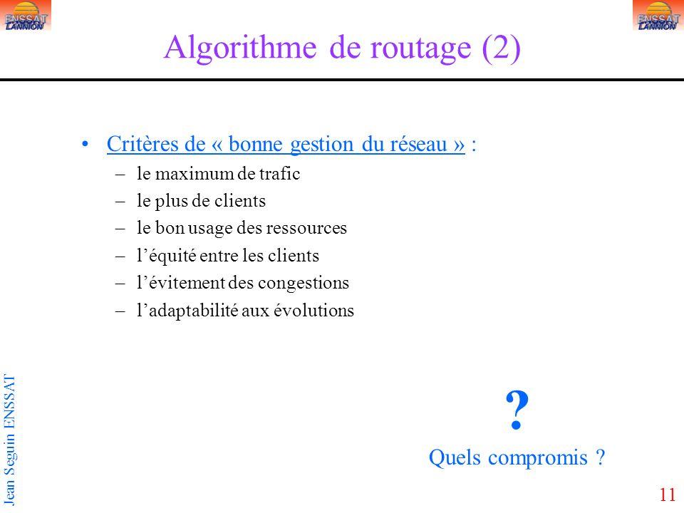 Algorithme de routage (2)