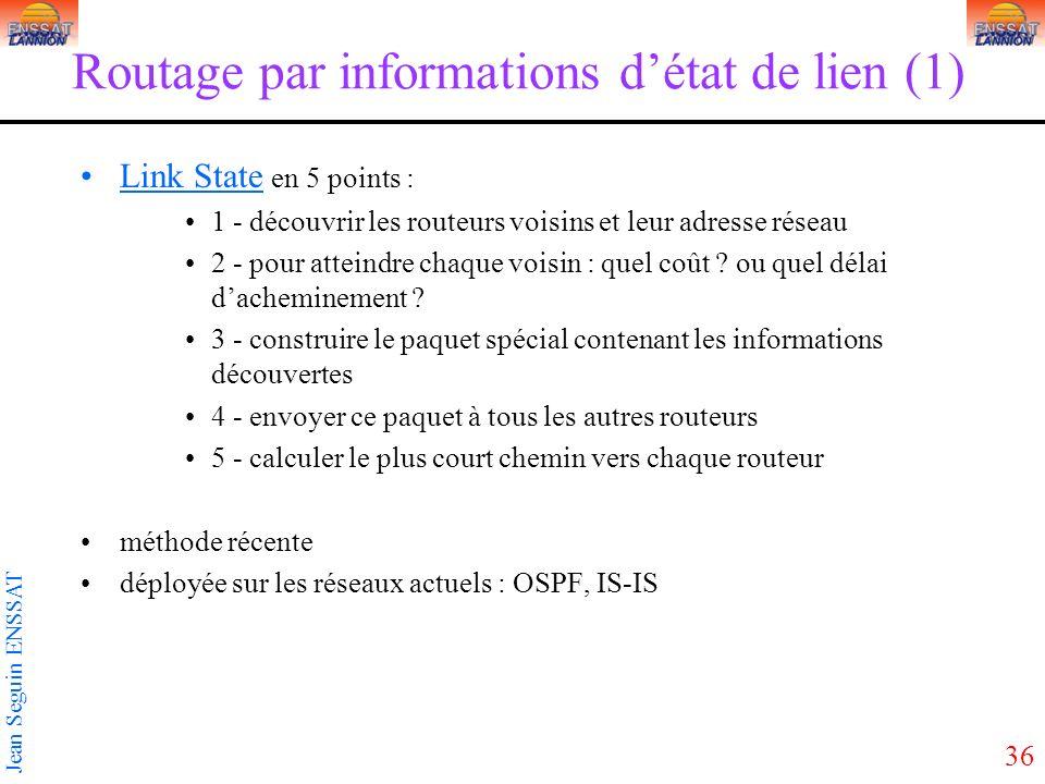 Routage par informations d'état de lien (1)