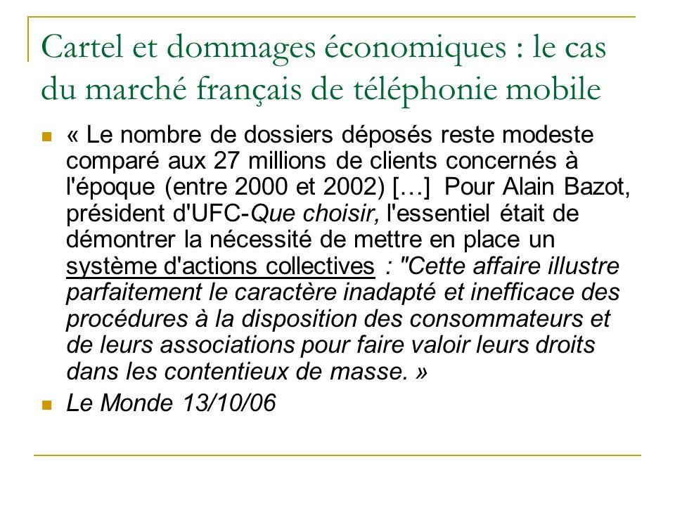 Cartel et dommages économiques : le cas du marché français de téléphonie mobile