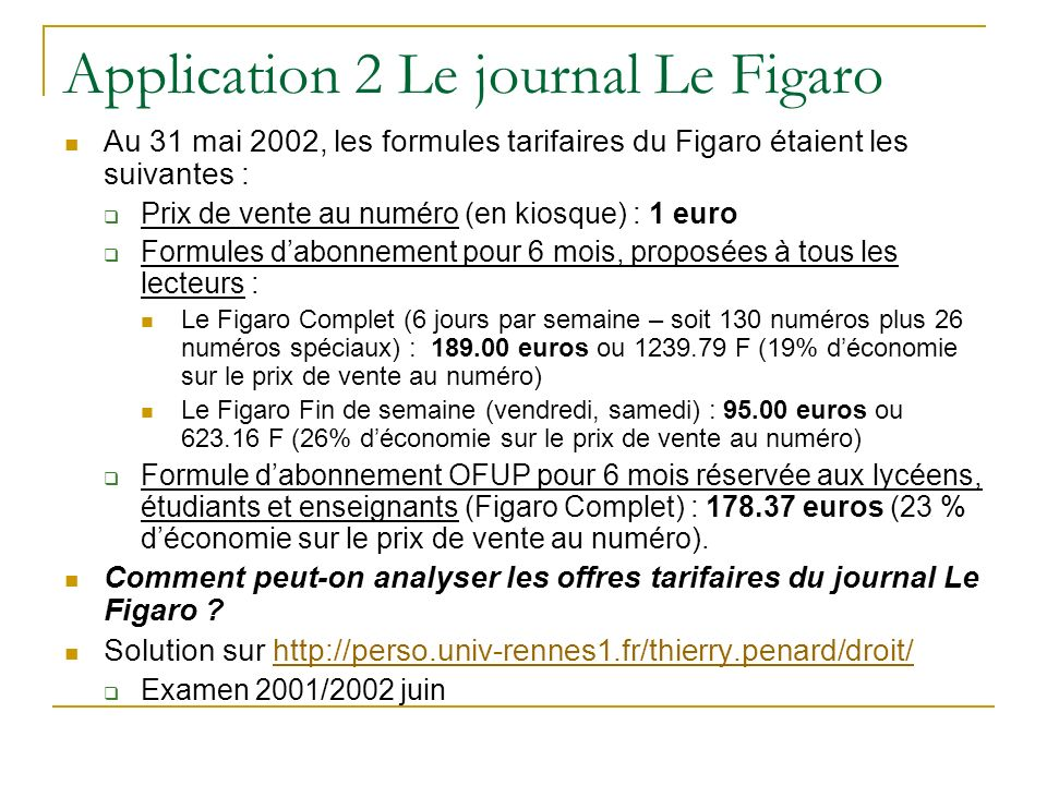 Application 2 Le journal Le Figaro