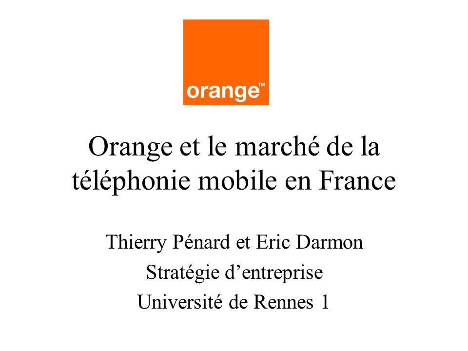 Orange et le marché de la téléphonie mobile en France