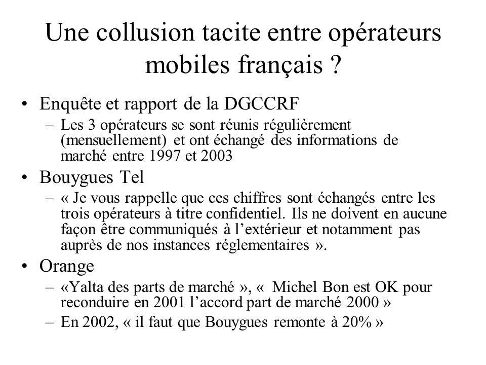 Une collusion tacite entre opérateurs mobiles français