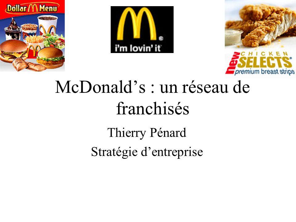 McDonald's : un réseau de franchisés