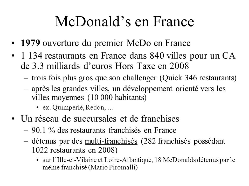McDonald's en France 1979 ouverture du premier McDo en France