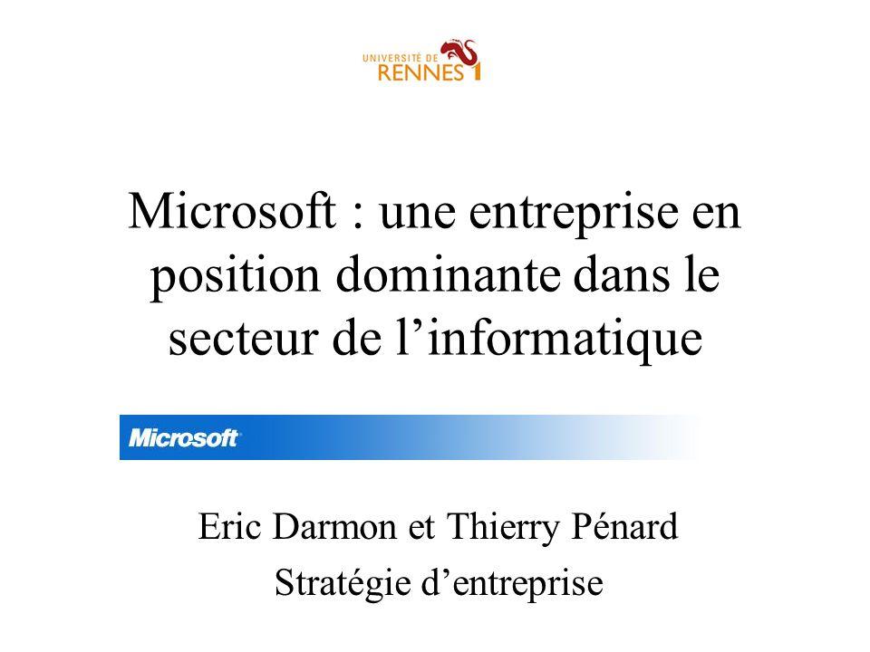 Eric Darmon et Thierry Pénard Stratégie d'entreprise