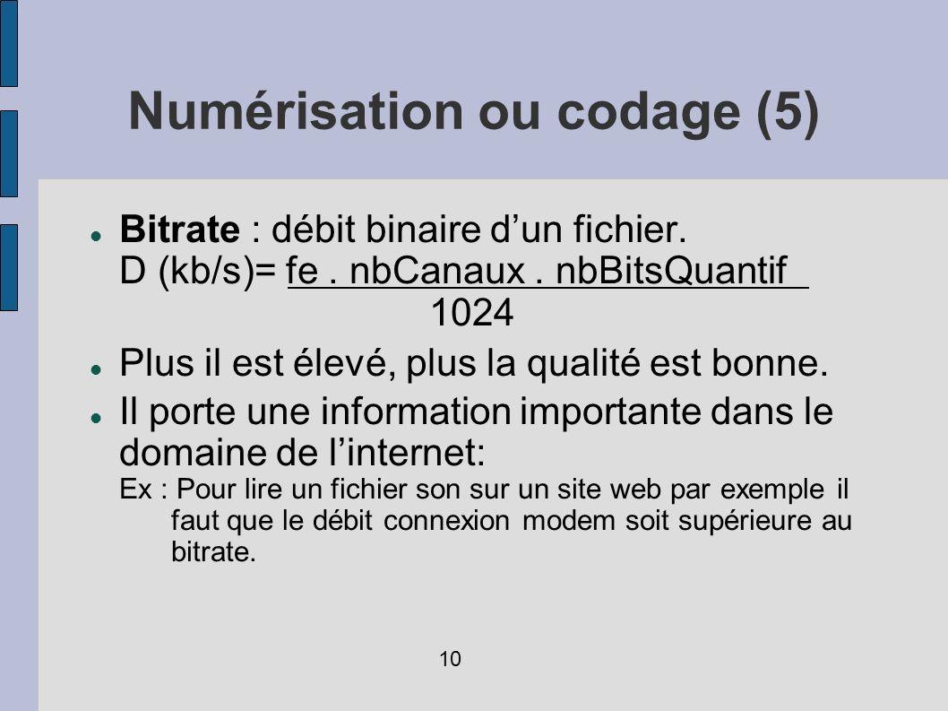 Numérisation ou codage (5)
