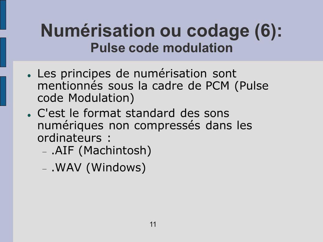 Numérisation ou codage (6): Pulse code modulation
