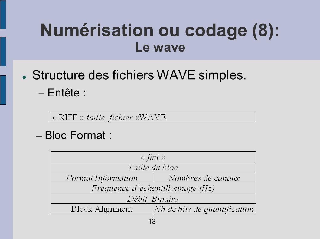 Numérisation ou codage (8): Le wave
