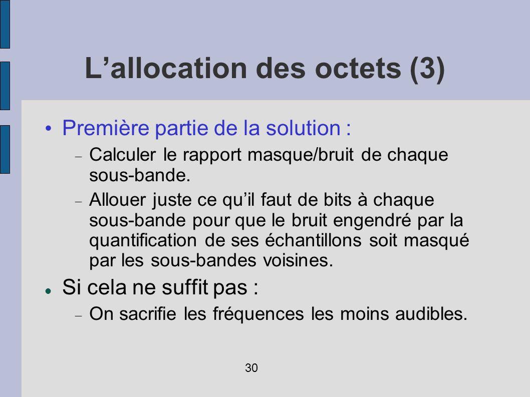 L'allocation des octets (3)