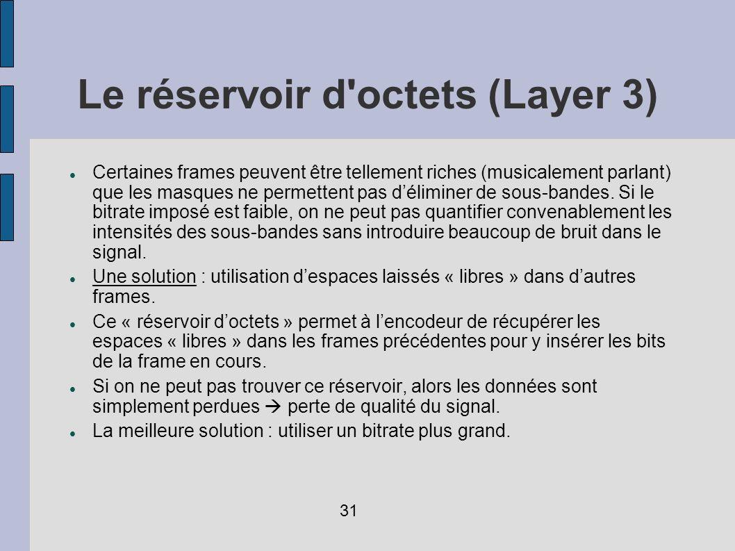Le réservoir d octets (Layer 3)