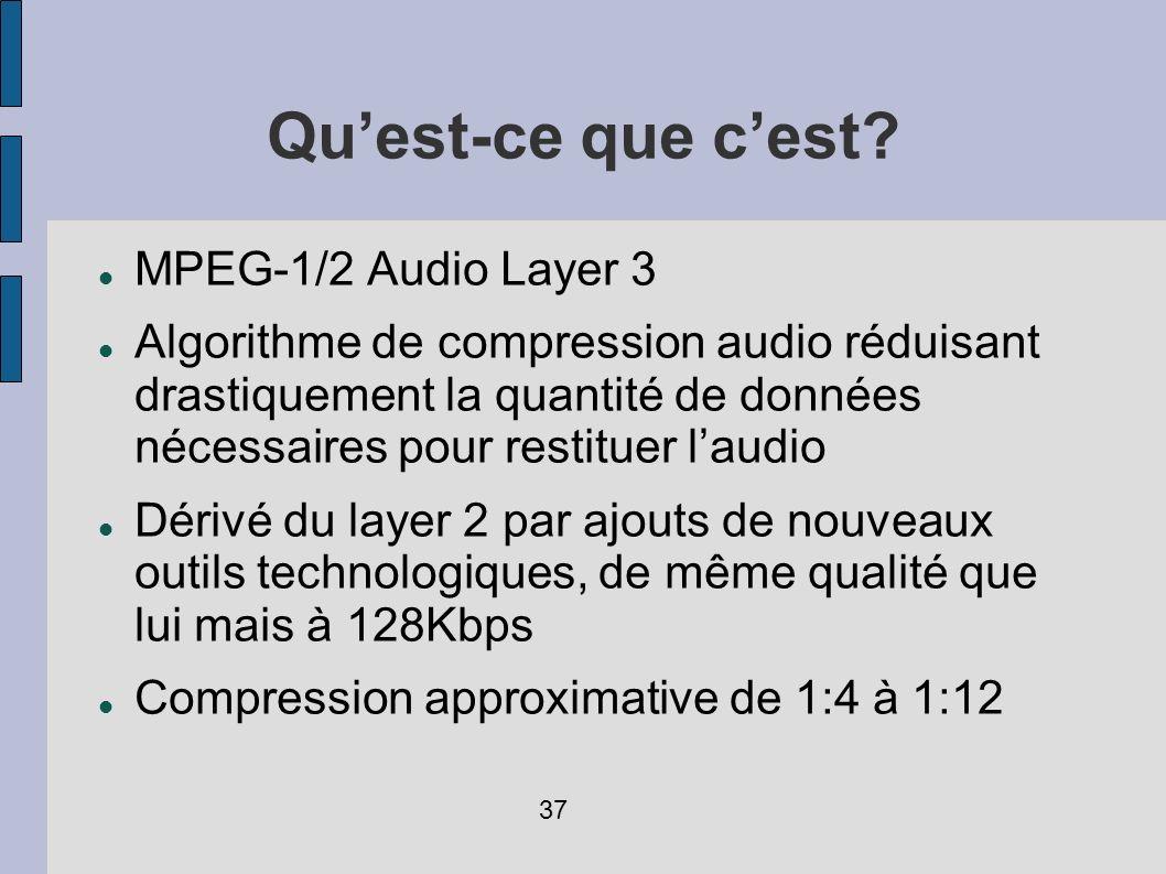Qu'est-ce que c'est MPEG-1/2 Audio Layer 3