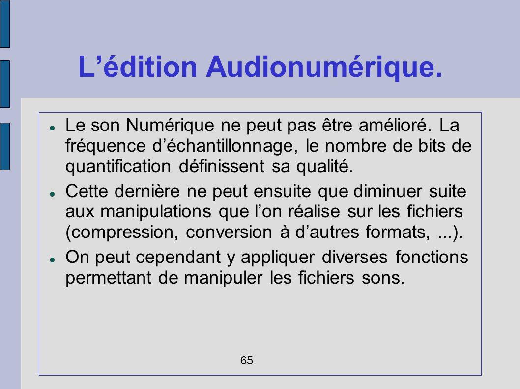 L'édition Audionumérique.