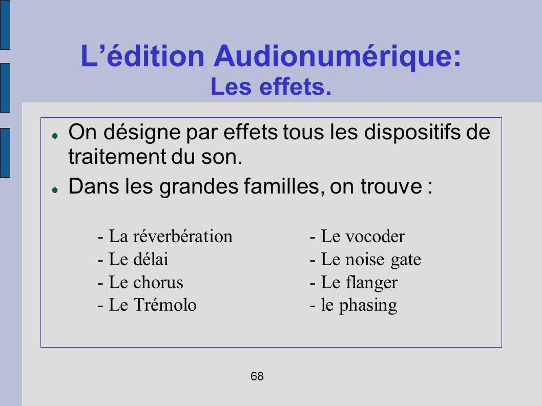 L'édition Audionumérique: Les effets.