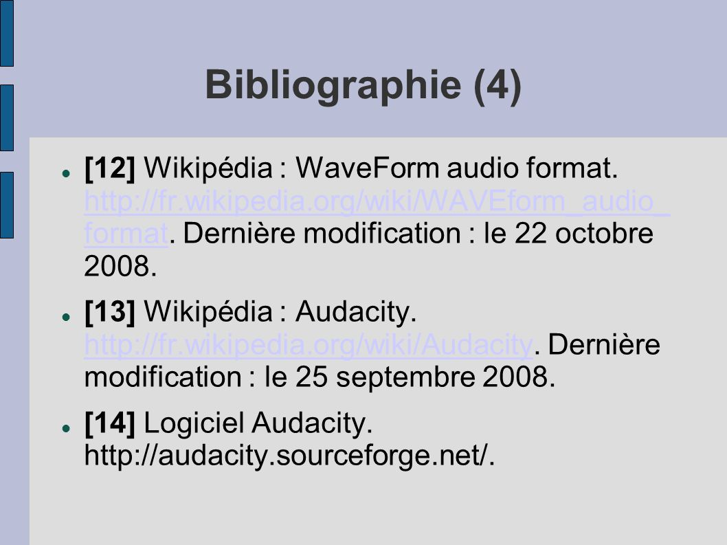 Bibliographie (4)