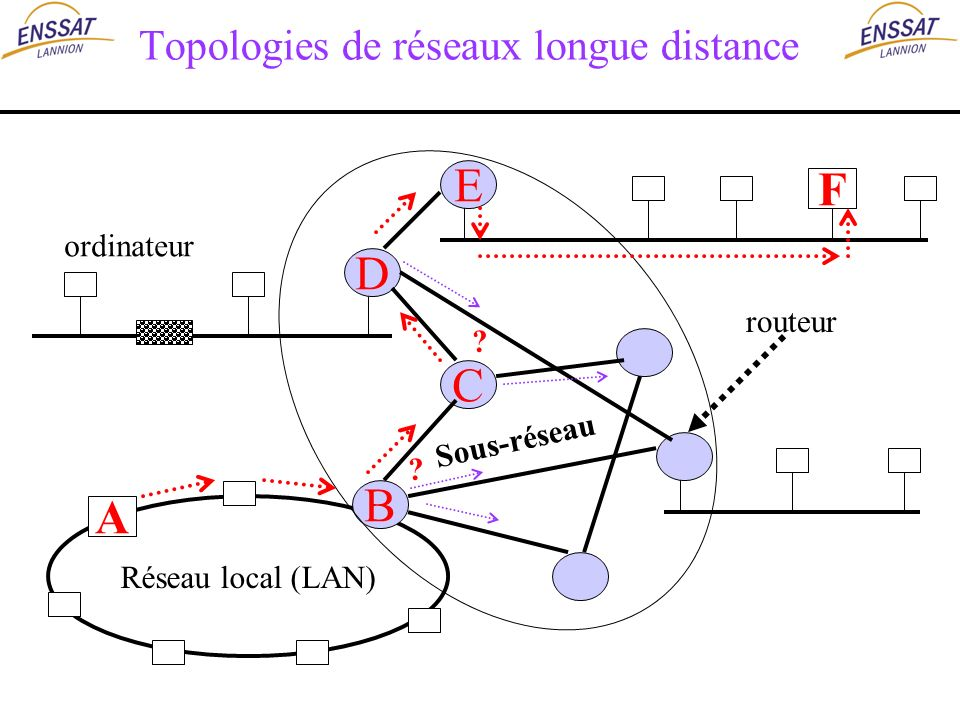 Topologies de réseaux longue distance
