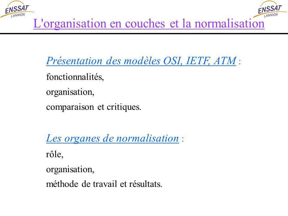 L organisation en couches et la normalisation