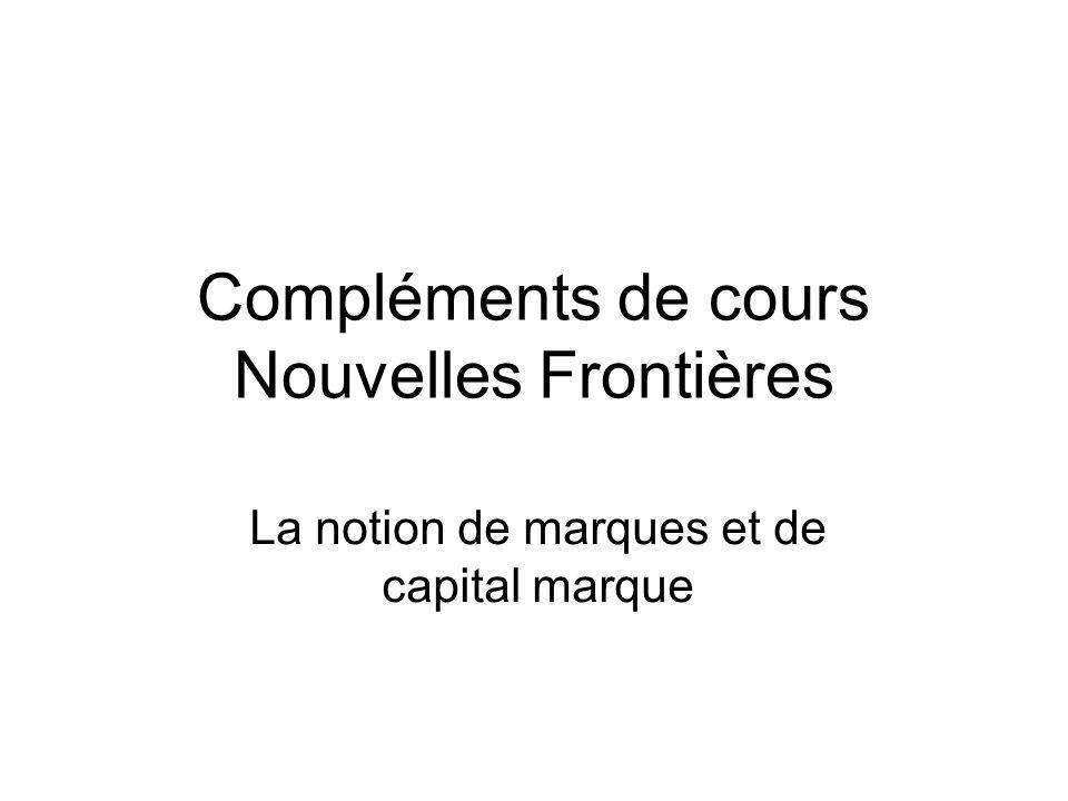 Compléments de cours Nouvelles Frontières