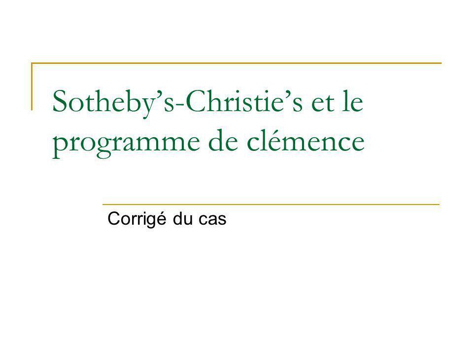 Sotheby's-Christie's et le programme de clémence