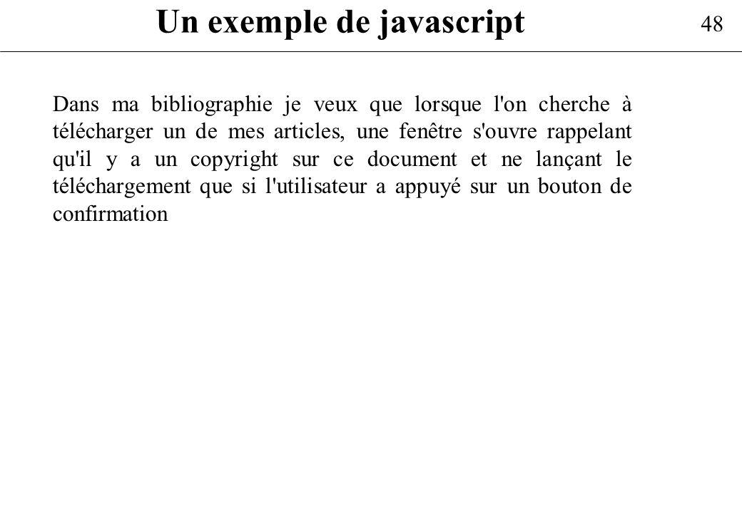 Un exemple de javascript