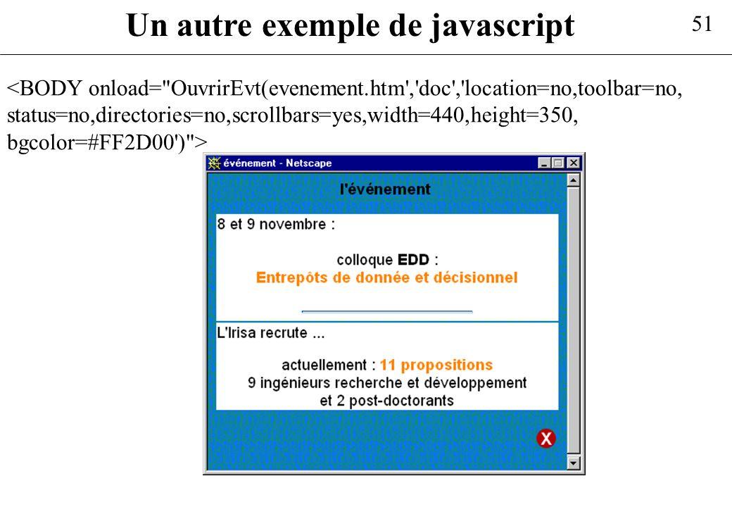 Un autre exemple de javascript