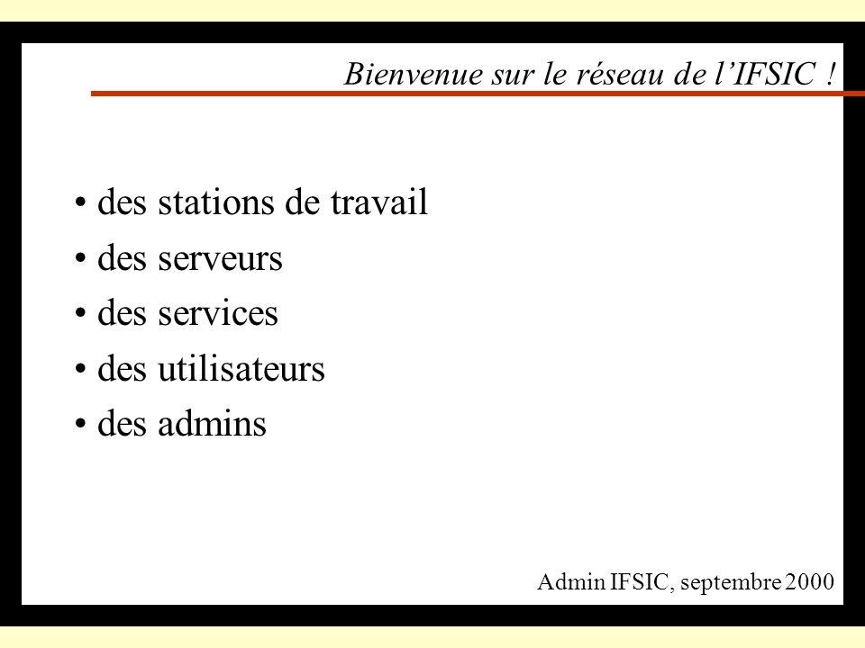 Bienvenue sur le réseau de l'IFSIC !