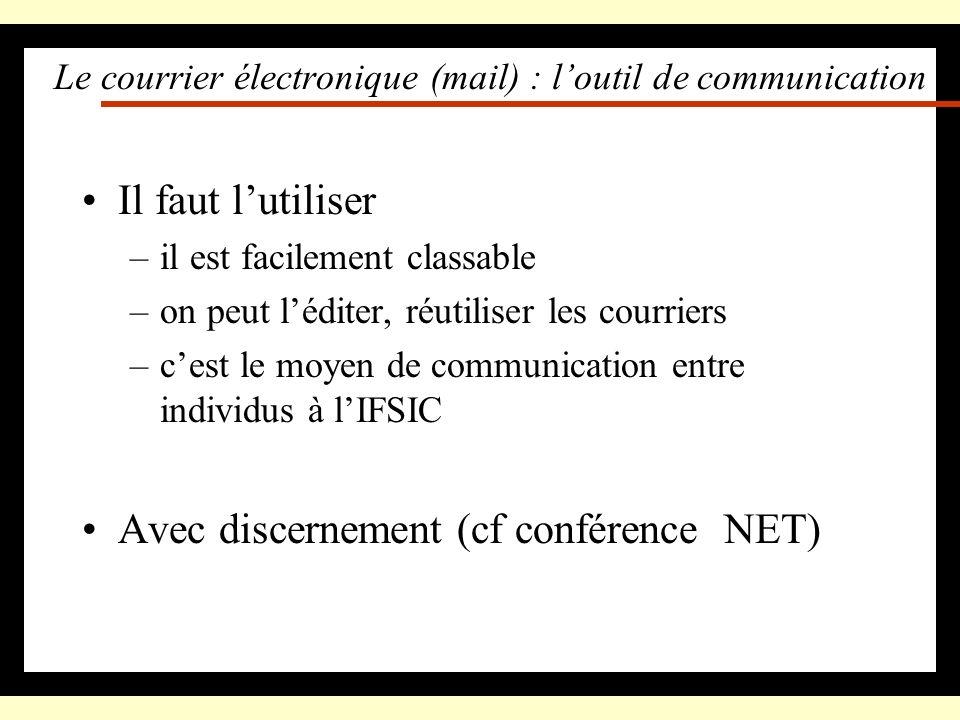 Le courrier électronique (mail) : l'outil de communication