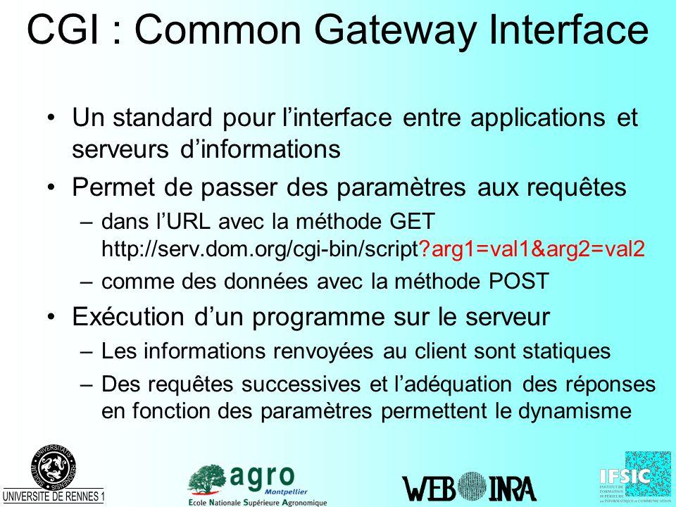 CGI : Common Gateway Interface