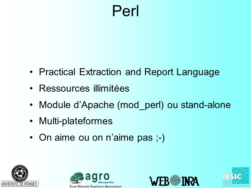 Perl Practical Extraction and Report Language Ressources illimitées