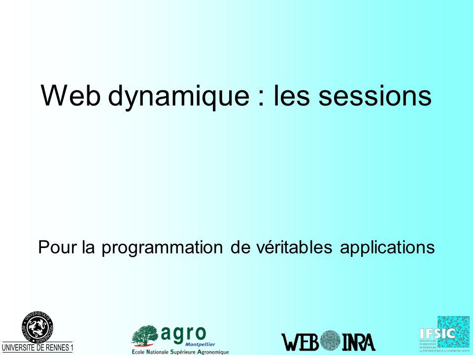Web dynamique : les sessions