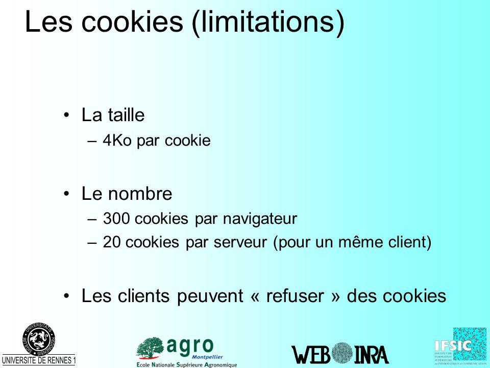Les cookies (limitations)