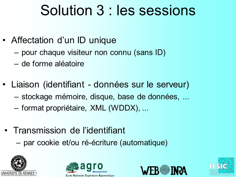 Solution 3 : les sessions